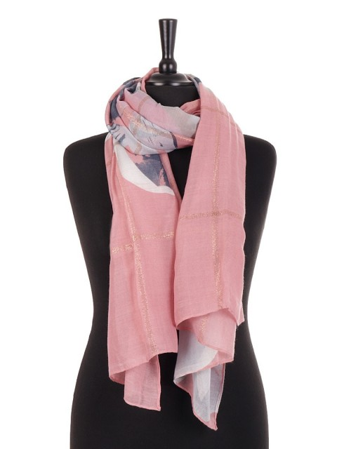 Abstract Print Cotton Scarf