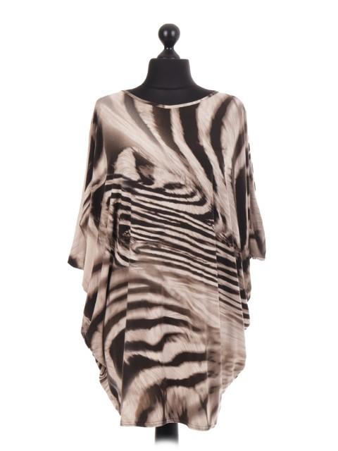 Animal Print Baggy Tunic