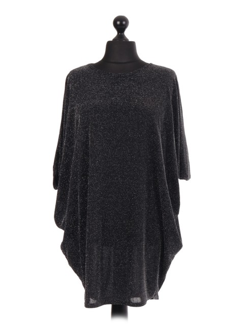 Glittery Batwing Party Top