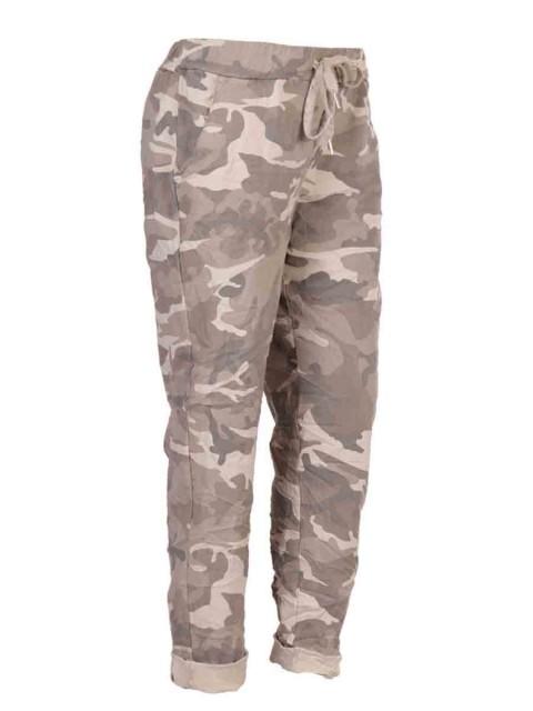 Italian Camouflage Print Magic Pants
