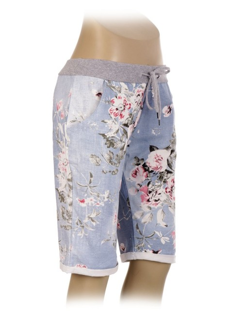 Italian Cotton Printed Shorts