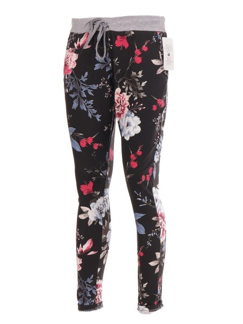 Ladies Italian Floral Printed Cotton Trouser