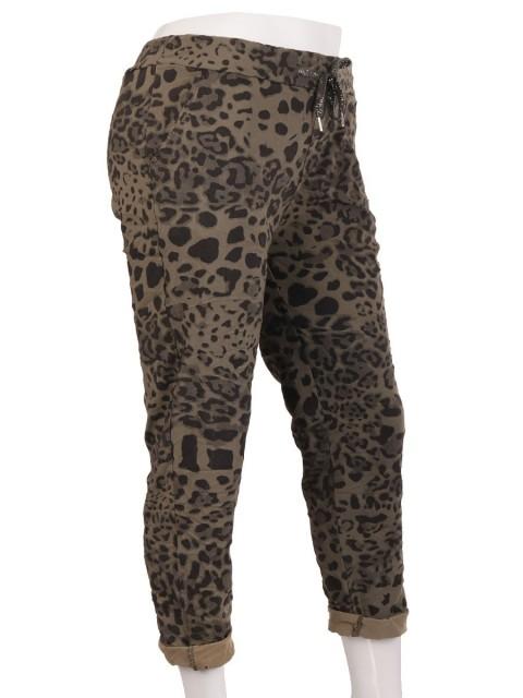 Italian Leopard Print Cotton Trouser