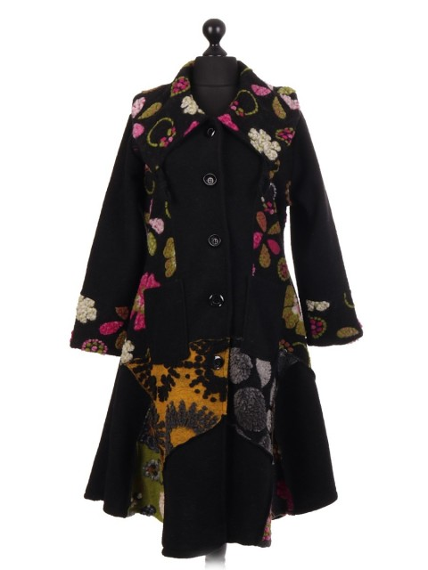 Italian Long Length Flared Lana Wool Coat