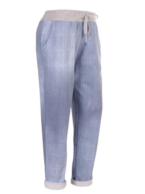 Plus Size Italian Plain Cotton Joggers