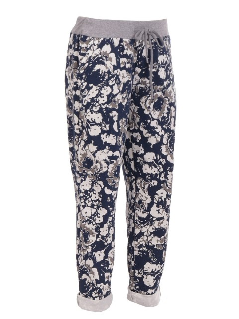 Ladies Italian Printed Cotton Trouser