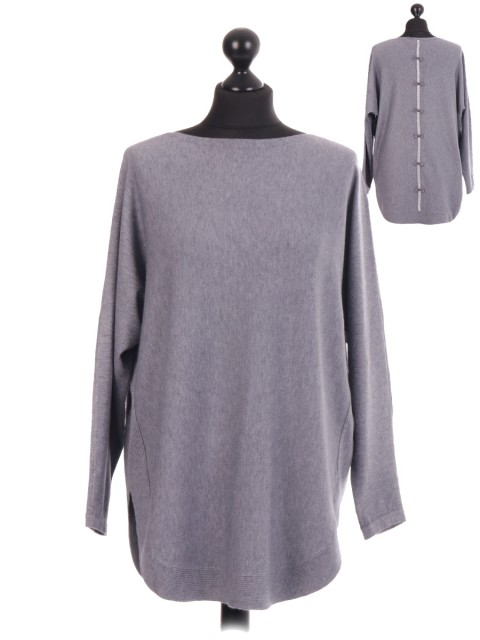 Italian Diamante Bow Back Jumper