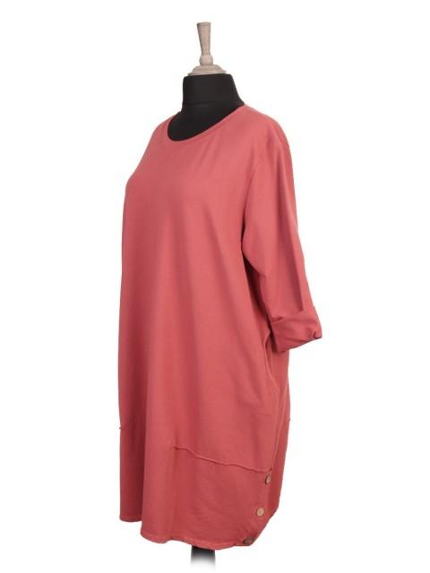 Italian Side Button Detail Lagenlook Dress