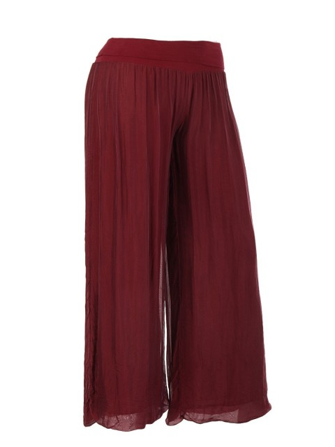 Italian Silk Trouser With Elasticated Waist
