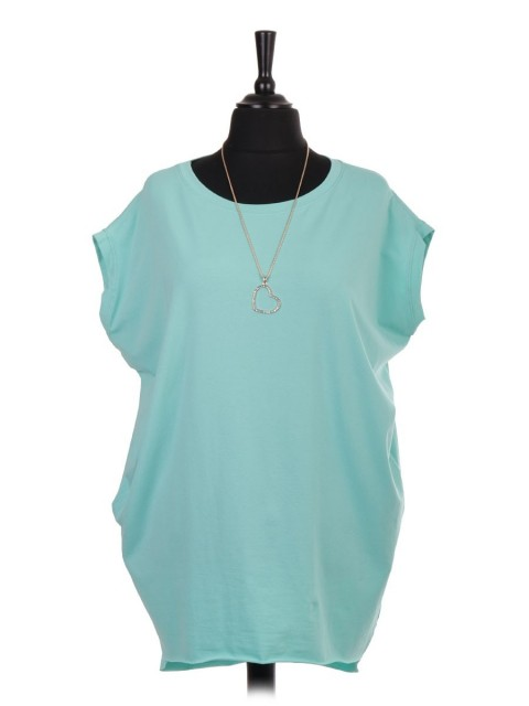 Italian Sleeveless Dip Hem Tunic Top