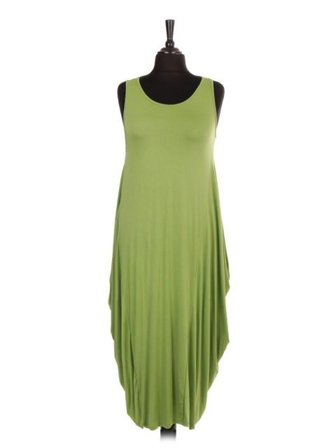 Italian Sleeveless Jersey Parachute Lagenlook Dress