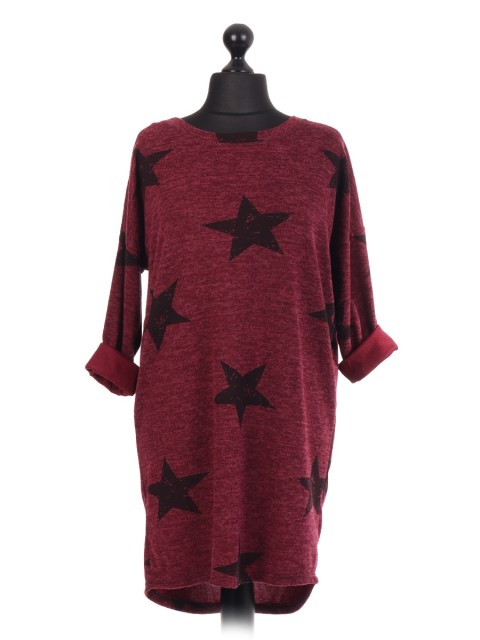 Italian Star Print Lagenlook Top