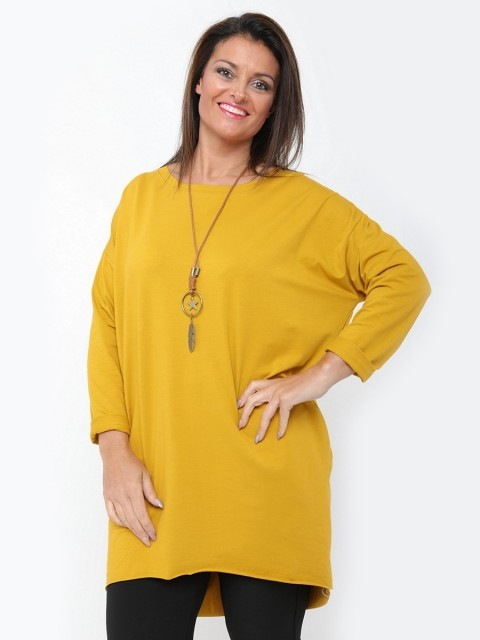 Italian Tunic Top With Star-leaf Necklace