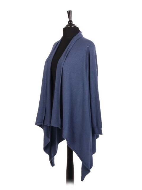 Italian Two Way Waterfall Cardigan / Wrap Over Cape