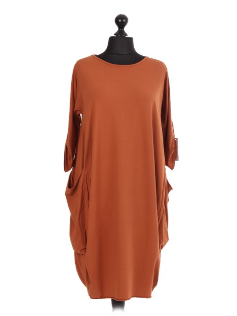 Italian Lagenlook Dress With Pockets