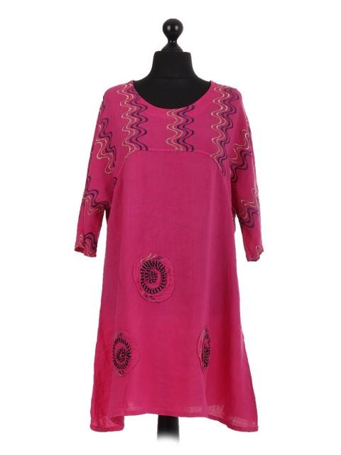 Italian Linen Embroidered Baggy Tunic
