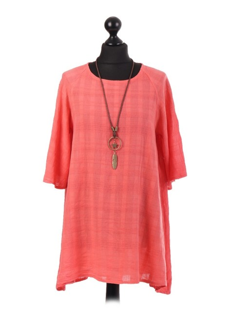 Italian Textured Swing Tunic Top