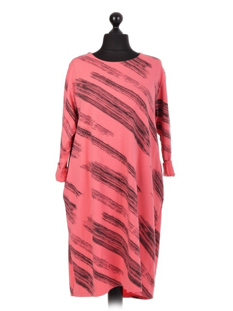 Italian Printed Lagenlook Dress