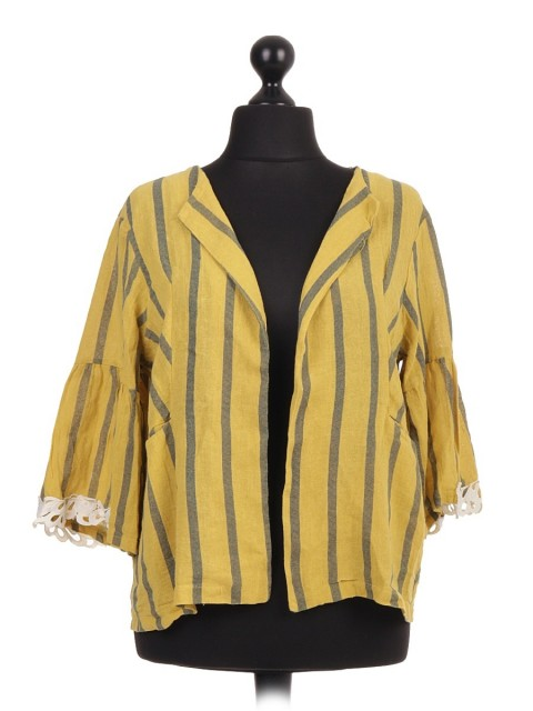 Italian Striped Linen cardigan