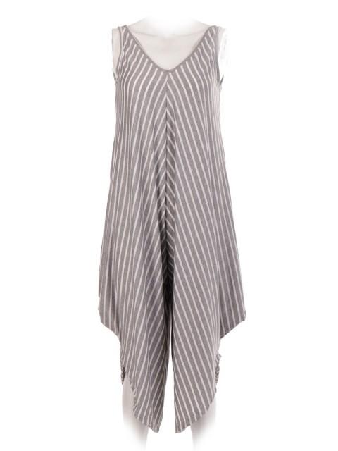 Italian Stripe Draped Jumpsuit