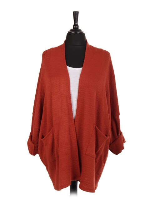 Italian Two Piece Cardigan With Front Pockets