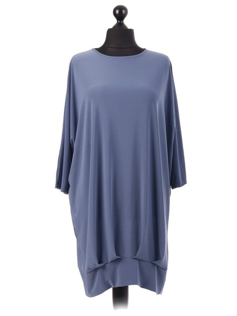Pleated Hem Baggy Tunic