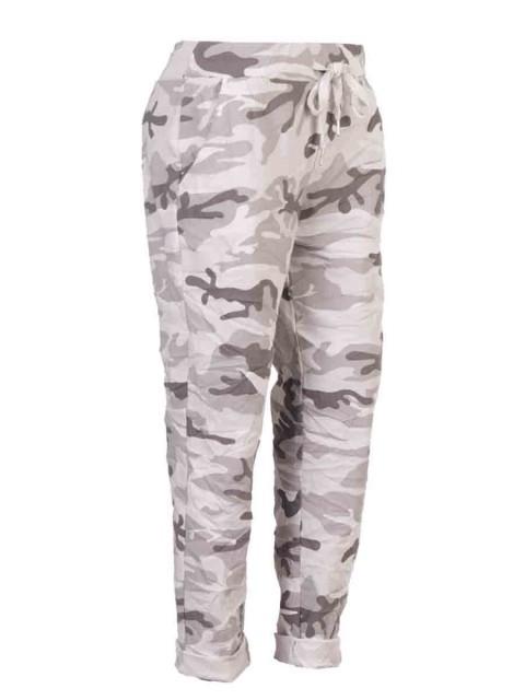 Plus Size Italian Camouflage Print Magic Pants