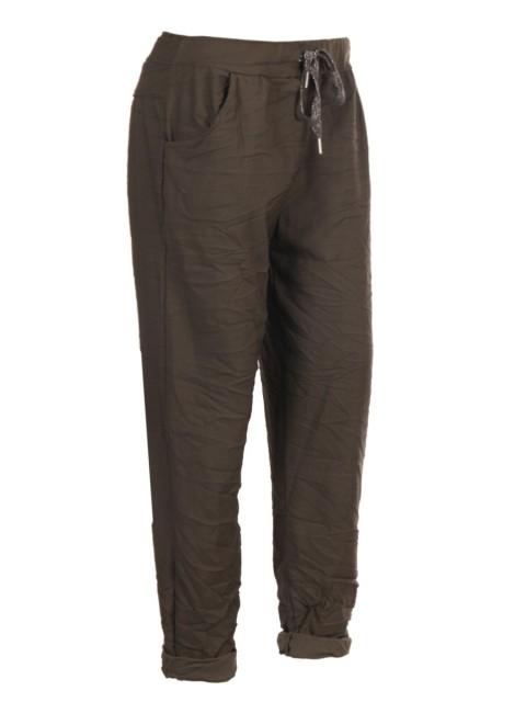 Plus Size Italian Cotton Stretchy Pants