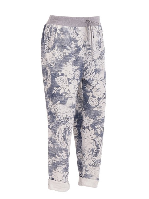 Plus Size Italian Printed Trouser