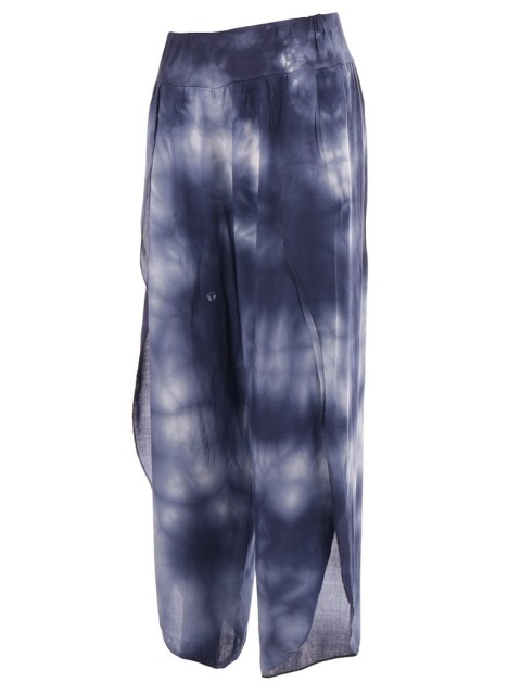 Tie And Dye Wrap Over Split Trousers