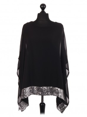 Chiffon sequin embellished kafatan tunic