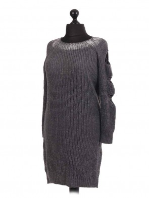 Chunky knitt Slashed Shoulder Jumper
