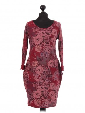 Italian Cluster Floral Quirky Dress