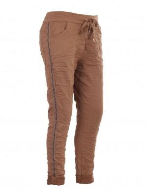 Italian Cold Dye Side Diamante Panel Trousers