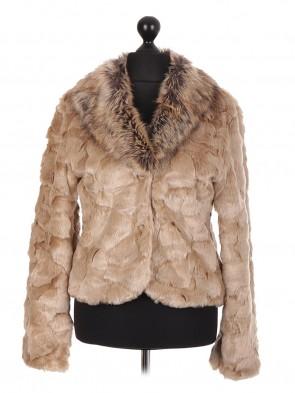 Italian Crop Soft Fur Coat