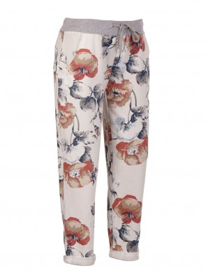 Italian Floral Print Cotton Trouser