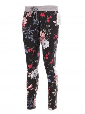 Ladies Italian Floral Printed Cotton Trouser