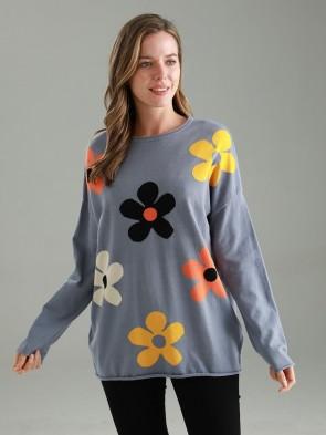 Italian Flower Knitted Jumper