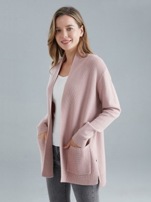 Italian Front Pockets Knitted Cardigan