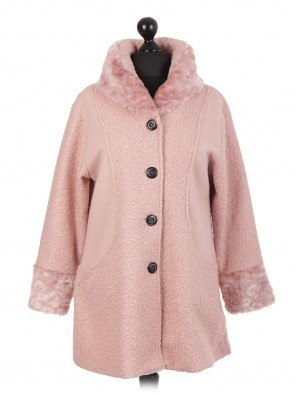 Italian Fur Coat With Front Buttons