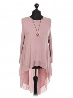 Italian High Low Chiffon Lagenlook Dress