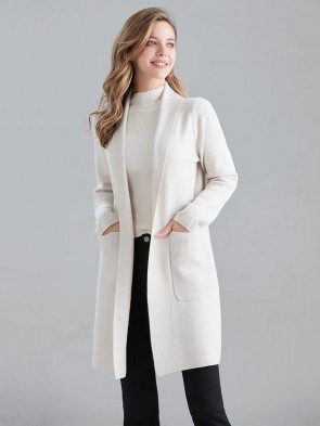 Italian Knitted Coatigan with Front Pockets