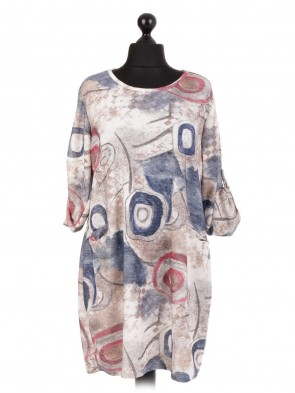 Italian Lagenlook Printed Dress