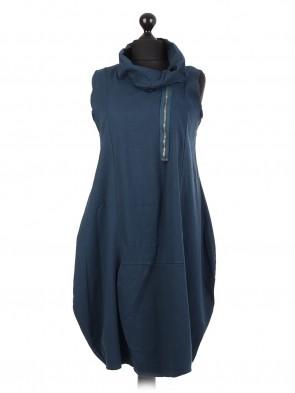 Italian Lagenlook Sleeveless Cotton Dress