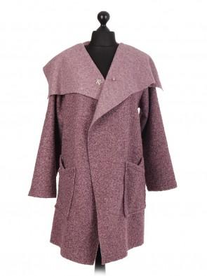 Italian Lana Wool Wrap Over Coat