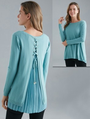 Italian Lattice Back Knitted Jumper