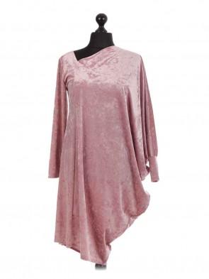 Italian Oversized Dress With Asymmetric Batwing Sleeve Category