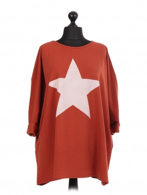 Italian Stanton Star Print Plus SizeTunic