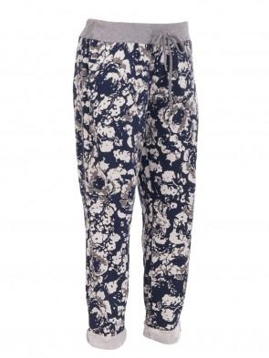 Ladies Italian Printed Cotton Trouser