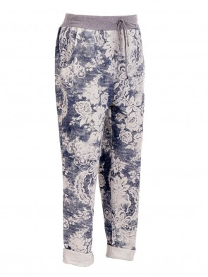 Italian Printed Cotton Trouser